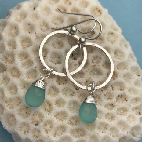 aqua-chalcedony-hammered-silver-earrings-1