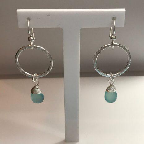 aqua-chalcedony-hammered-silver-earrings-3