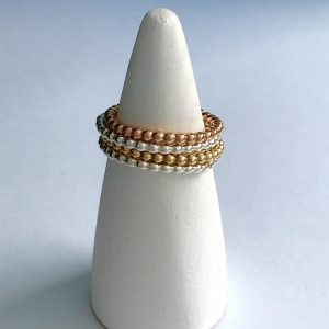 Beaded wire stacking ring 3