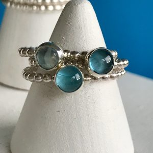 Beautiful blues sterling silver stacking ring 4