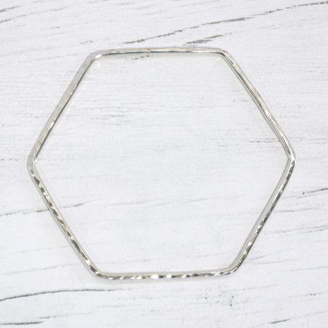 hexagonal-silver-bangle-1