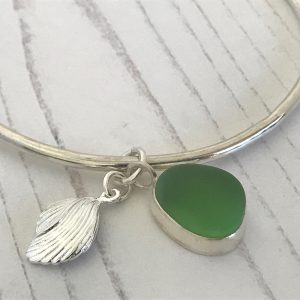 Sea glass bangle 1