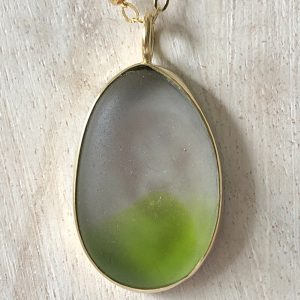 Sea glass necklace 8