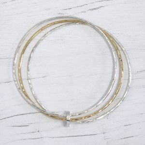 Triple Hammered Bangle 5