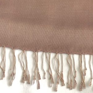 Taupe Silk and cashmere scarf 12