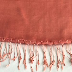 Coral Silk and cashmere scarf 3