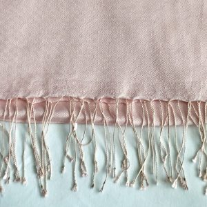 Pale pink Silk and cashmere scarf 2