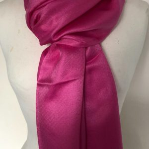 Hot Pink Silk and cashmere scarf 8