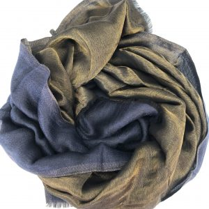 Navy blue Cashmere and Merino wool scarf 5