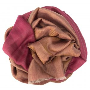 Hot Pink Cashmere and Merino wool scarf 3