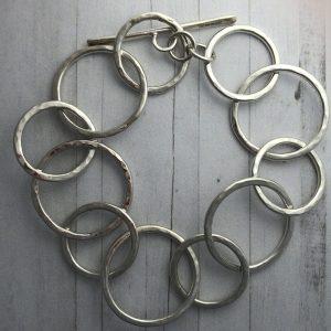 Silver link bracelet 8
