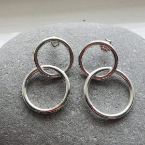 Sterling silver circle earrings 2