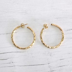 14k gold fill hoop earrings 1