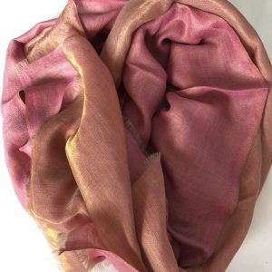 Pink Cashmere and Merino wool scarf 6