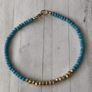 Turquoise and gold fill bracelet 10