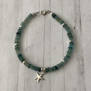 Recycled glass and silver bracelet 3