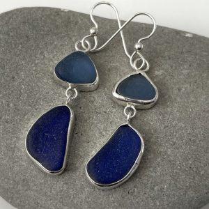 Two Blue Sea glass earrings 7
