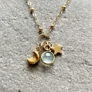 Gold fill charm necklace 11