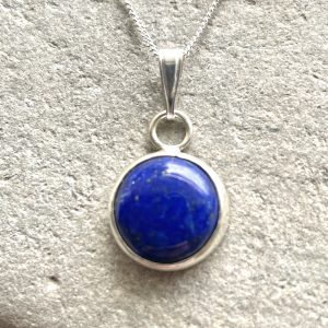 Lapis and silver necklace 8