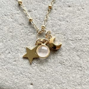 Gold fill charm necklace 10